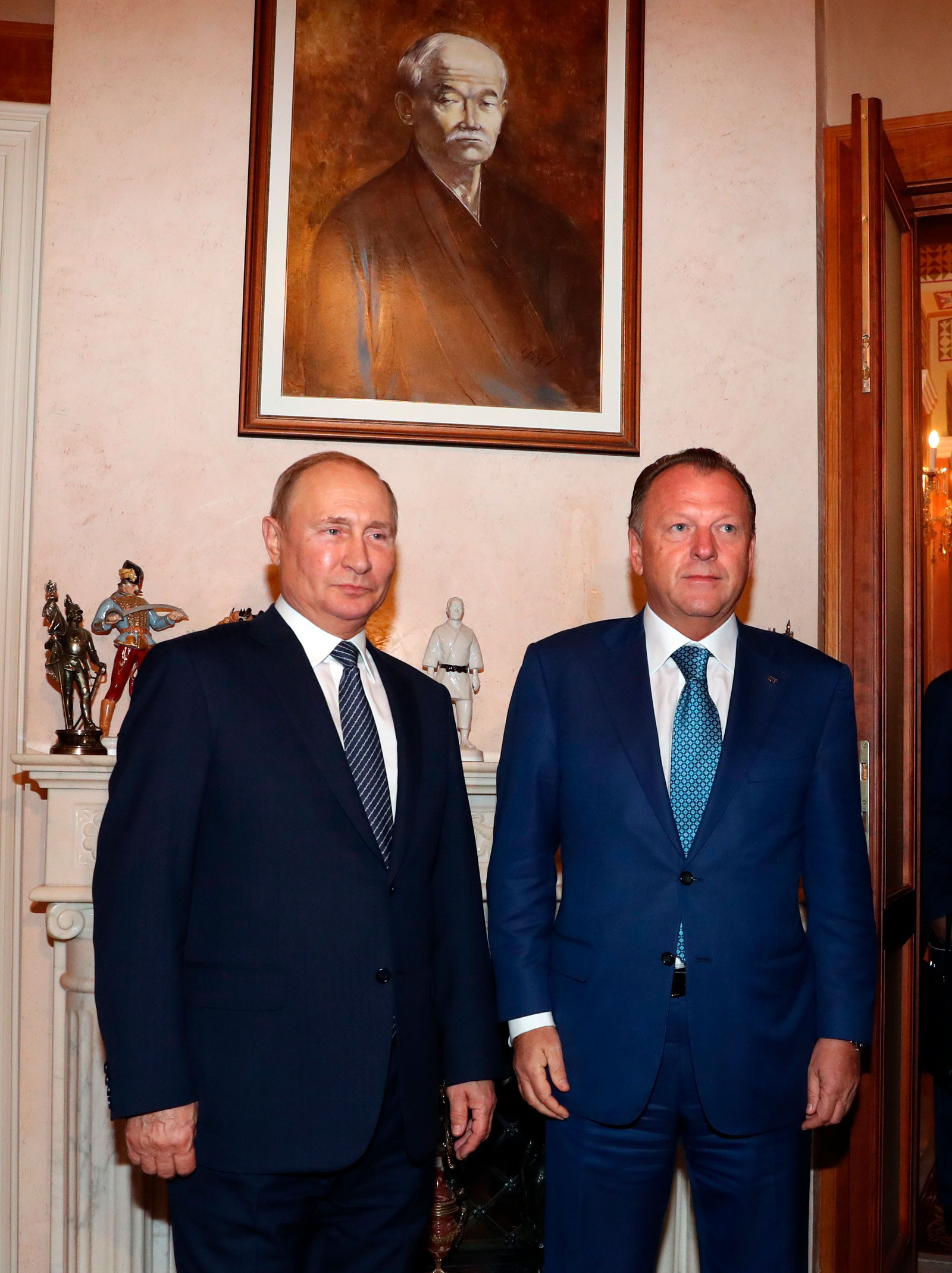 President Putin Visited Ijf President Vizer In Budapest Judo Headquarters Ijf Org